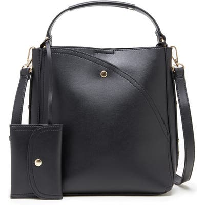 Sole Society Hingi Faux Leather Shoulder Bag - Black