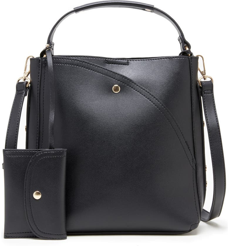 SOLE SOCIETY Hingi Faux Leather Shoulder Bag, Main, color, 001