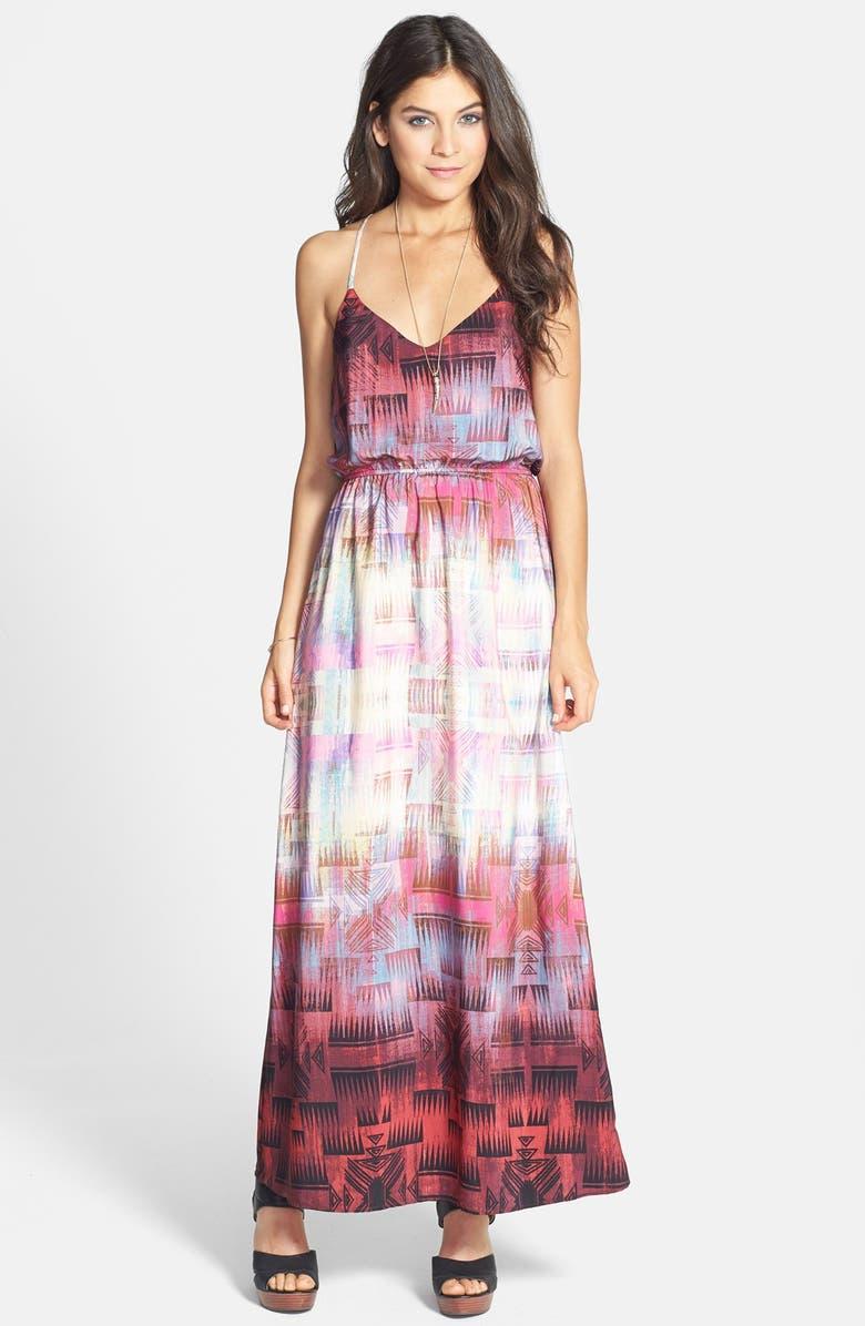 SOCIALITE Print Maxi Dress, Main, color, 511