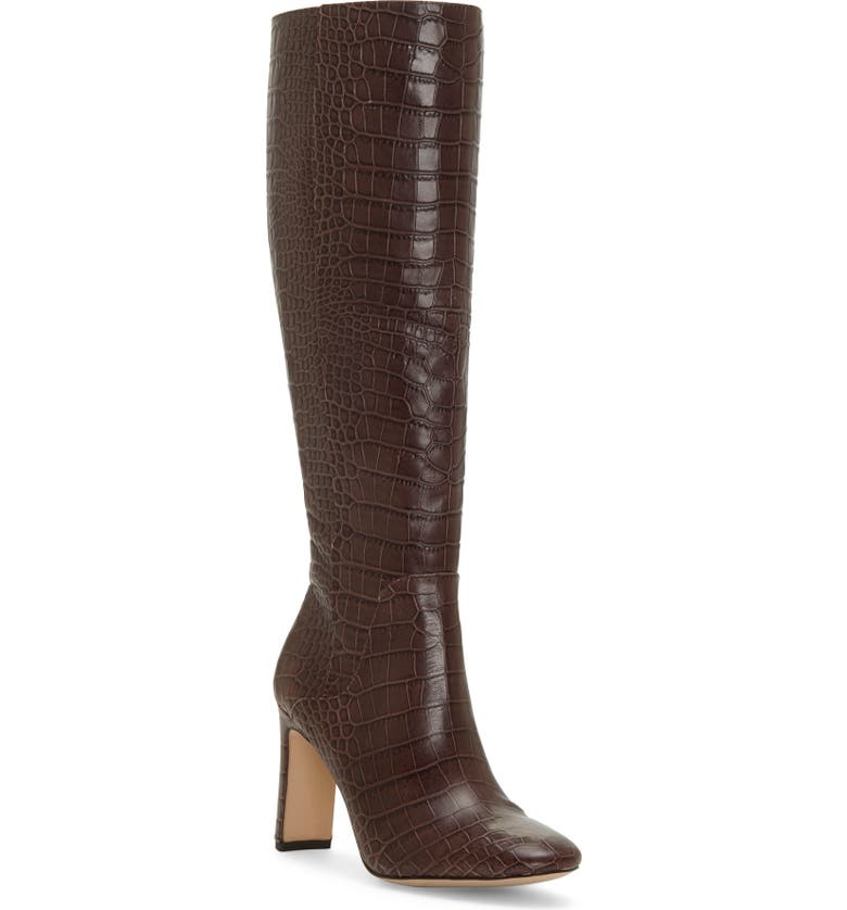LOUISE ET CIE Waldron Knee High Boot, Main, color, BURNT OAK LEATHER