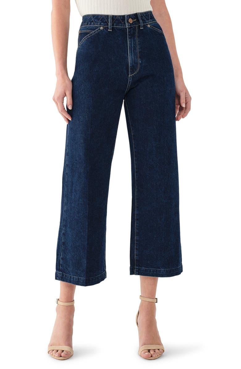 DL1961 Hepburn High Waist Crop Wide Leg Jeans, Main, color, 400