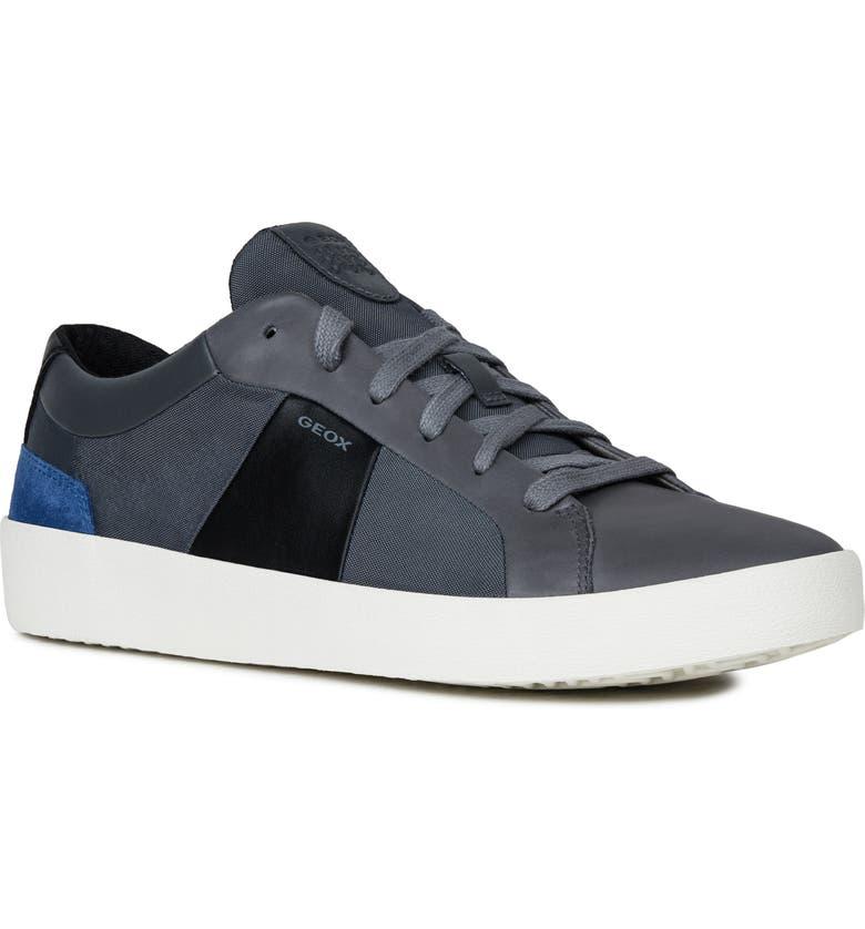 GEOX Warley 2 Sneaker, Main, color, STONE/ BLACK BLEND