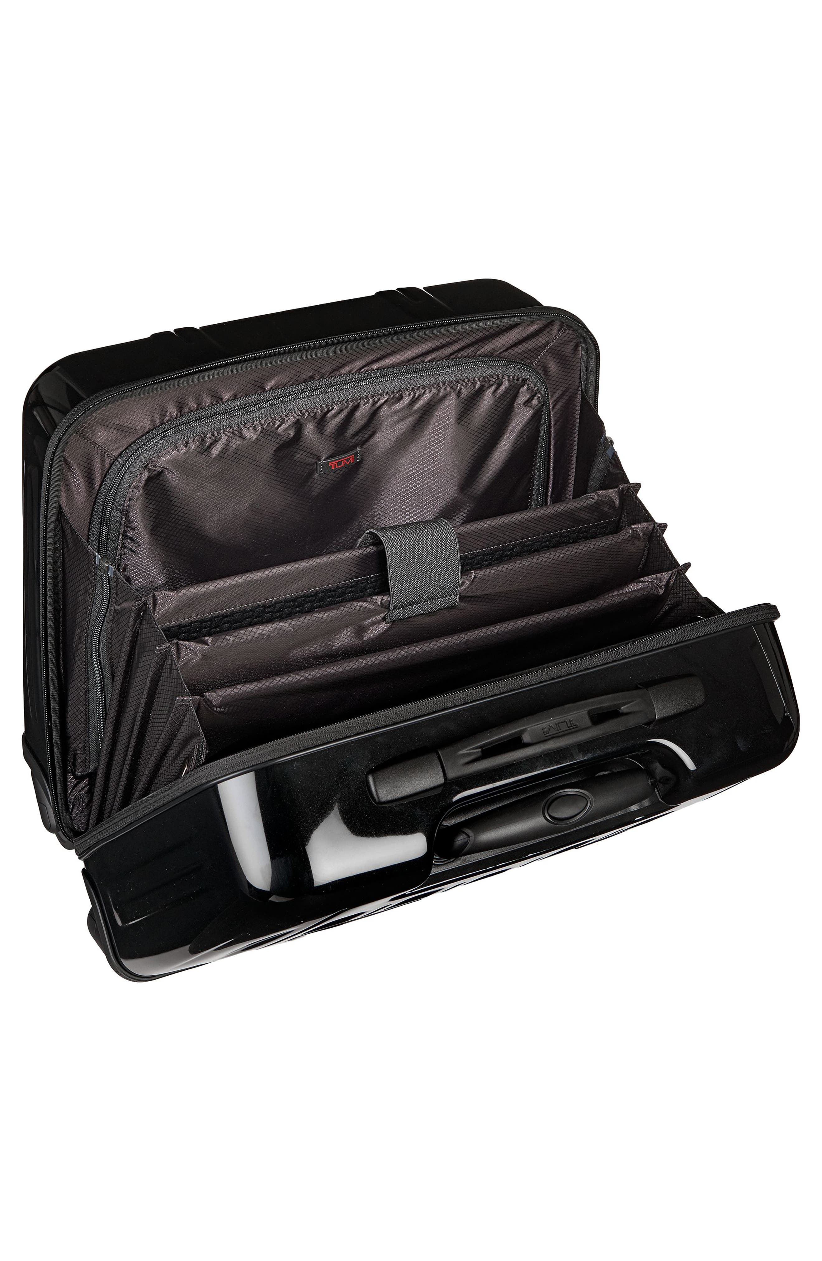 ,                             V3 Compact Carry-On Spinner Briefcase,                             Alternate thumbnail 3, color,                             BLACK