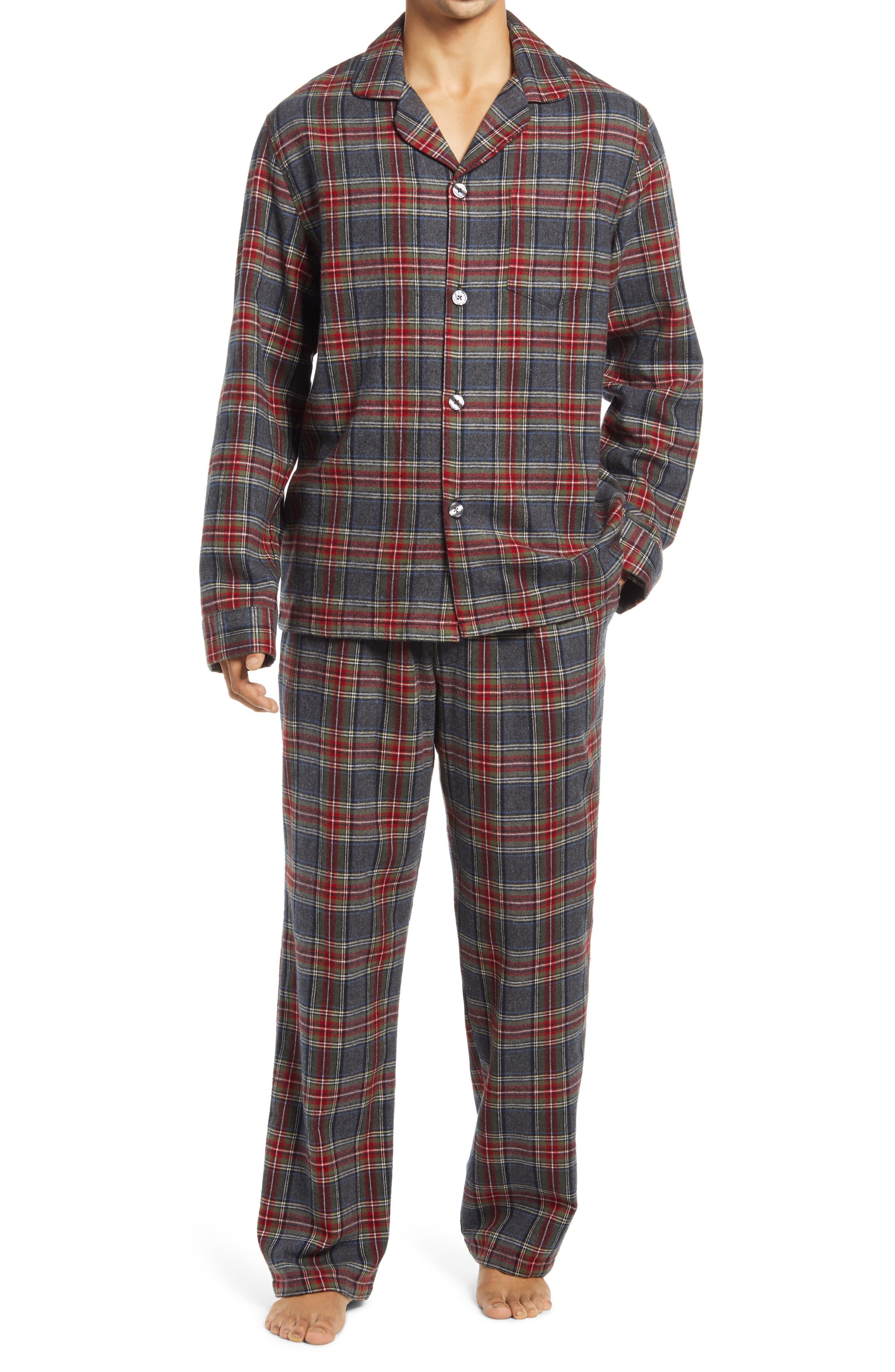 Men's Scotch Plaid Flannel Pajamas