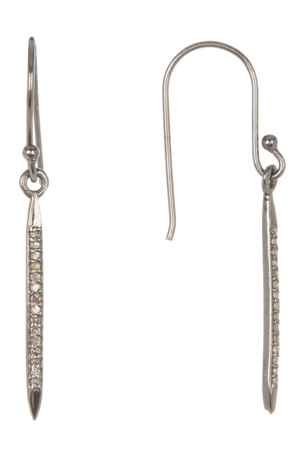 Image of ADORNIA Mini Lexington Champagne Diamond Spike Drop Earrings - 0.20 ctw