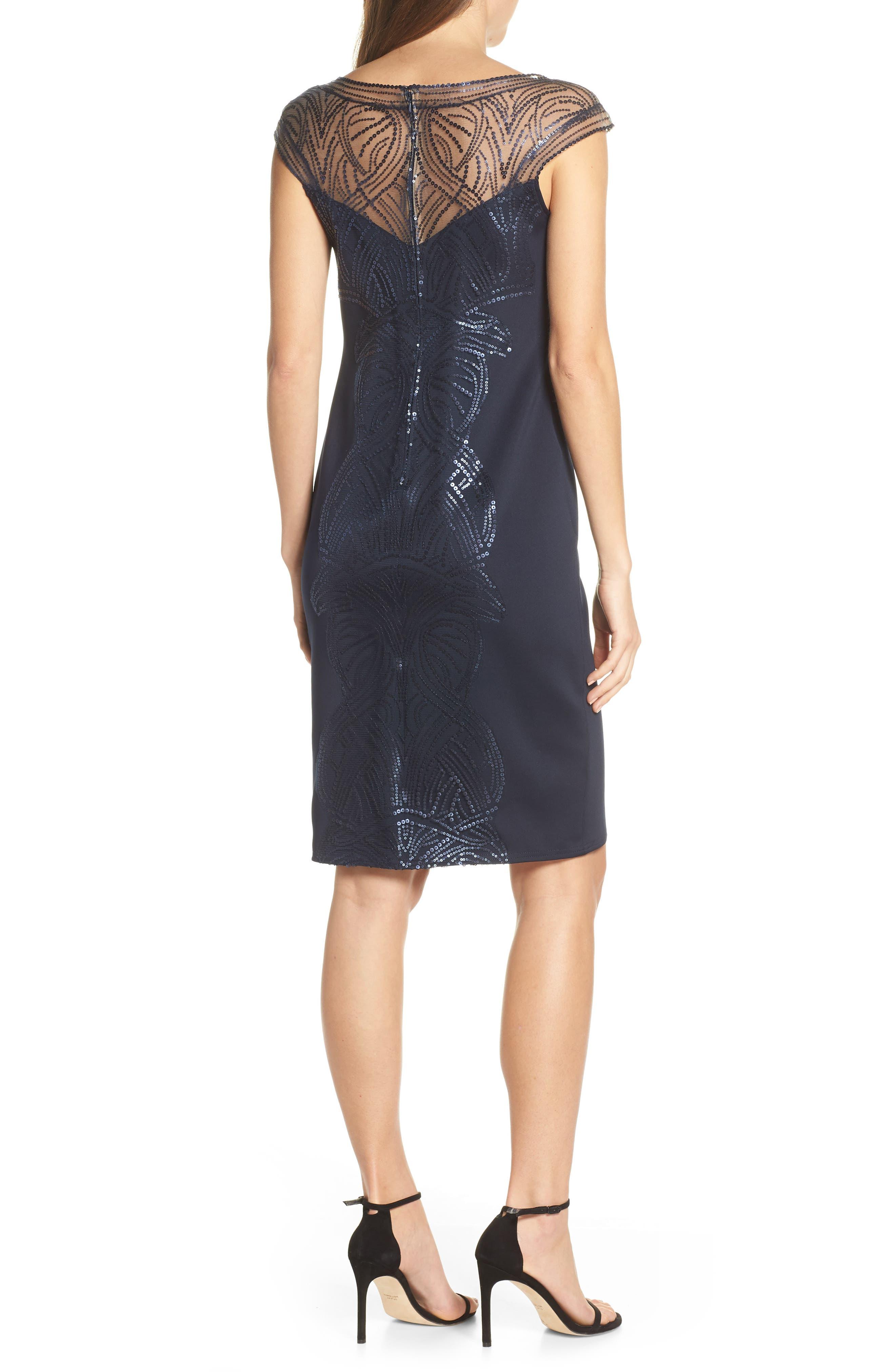 ,                             Sequin Sheath Dress,                             Alternate thumbnail 2, color,                             NAVY