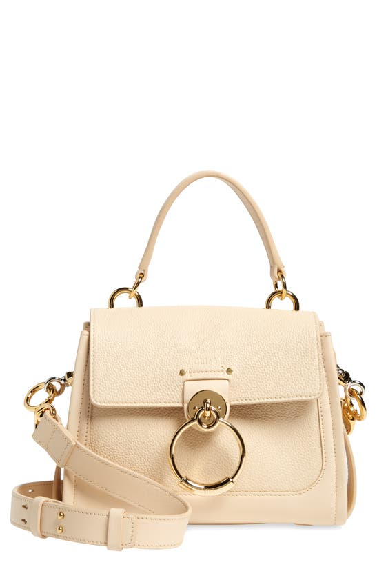 Chloé Leathers MINI TESS LEATHER CROSSBODY BAG