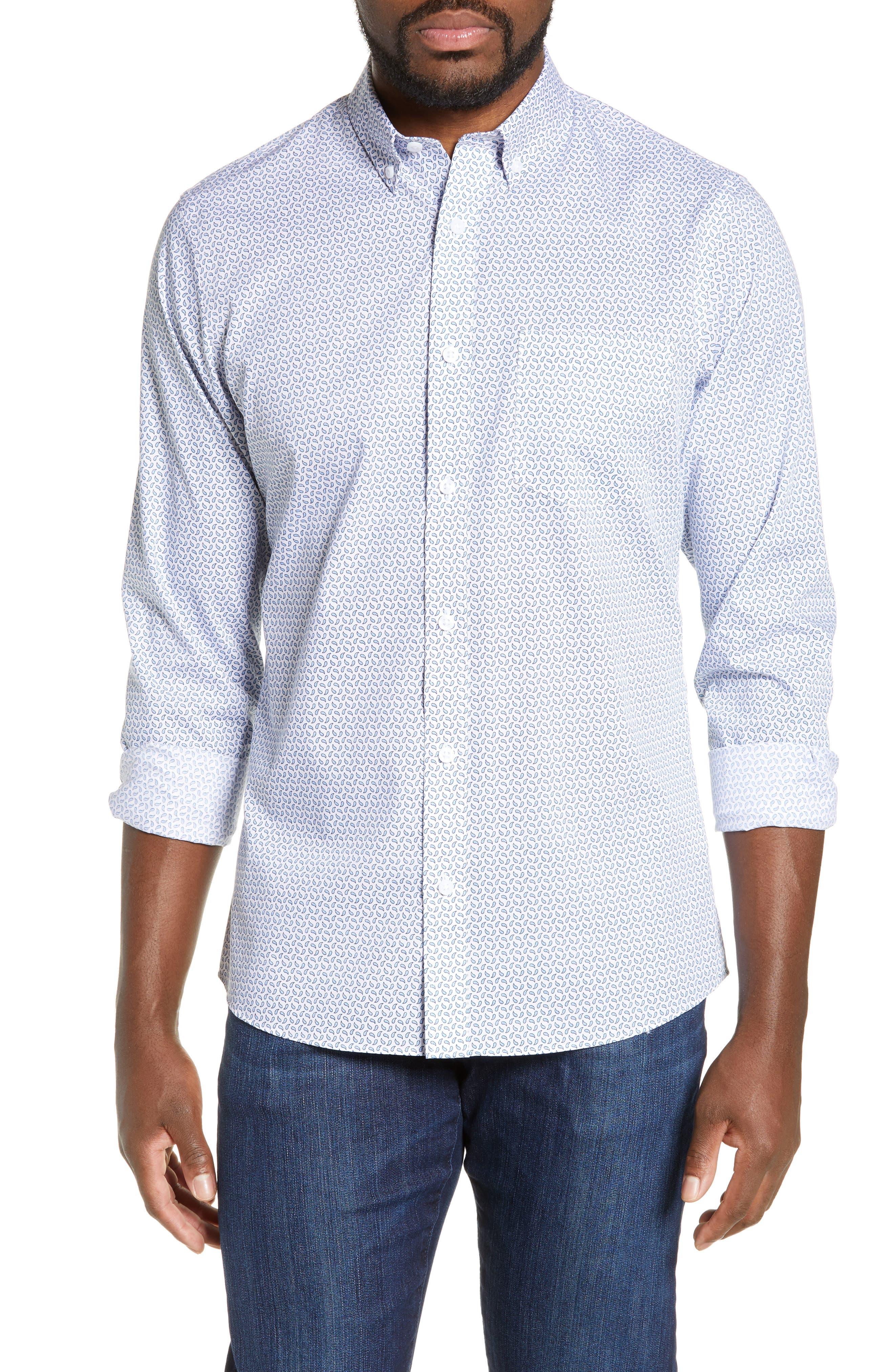 Nordstrom Shop Regular Fit Print Sport Shirt