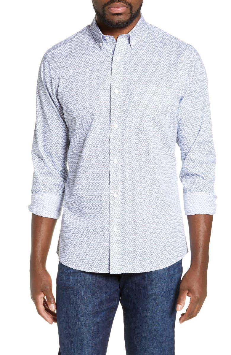 NORDSTROM MEN'S SHOP Regular Fit Print Sport Shirt, Main, color, 450