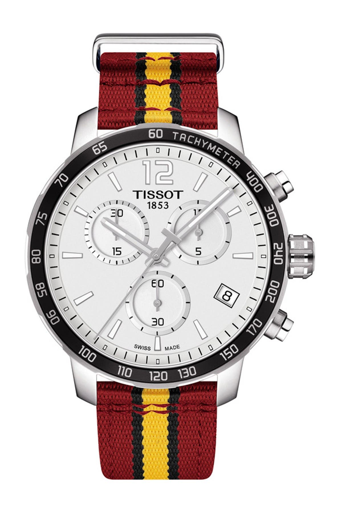 Image of Tissot Men's Quickster Chronograph NBA Miami Heat Watch, 42mm