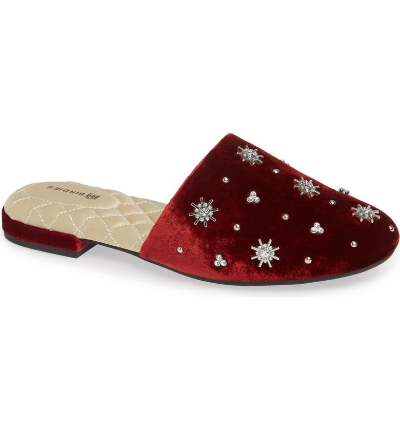 BIRDIES The Songbird Mule, Main, color, BURGUNDY CRYSTAL VELVET