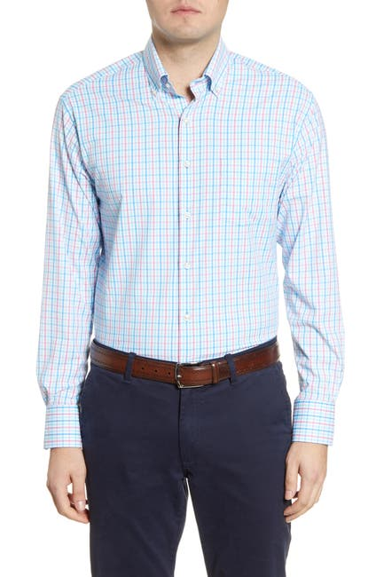 Image of Peter Millar Performance Plaid Shirt