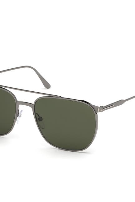 Image of Tom Ford Kip 58mm Aviator Sunglasses