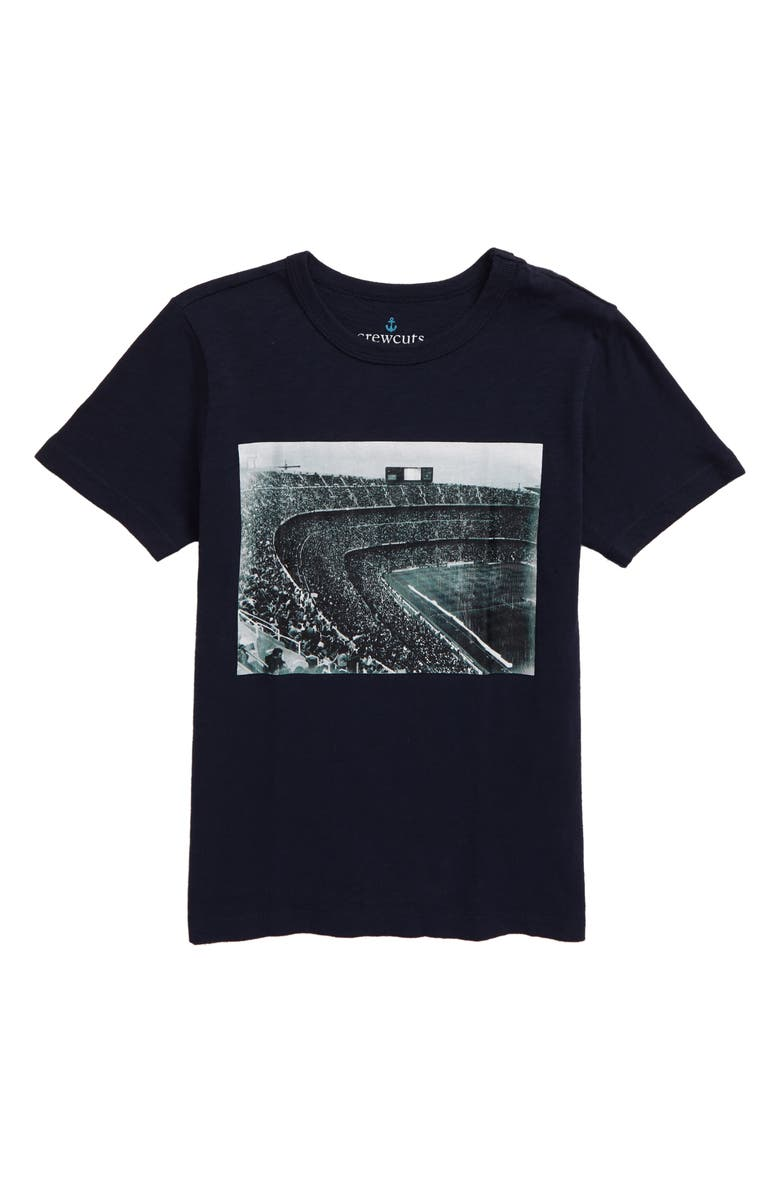 CREWCUTS BY J.CREW Kids' Stadium T-shirt, Main, color, NAVY MULTI