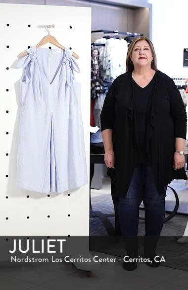 Bow Shoulder Seersucker Dress, sales video thumbnail