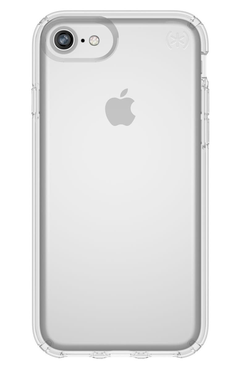 SPECK Transparent iPhone 6/6s/7/8 Case, Main, color, CLEAR/ CLEAR