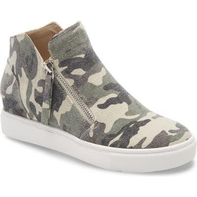 Steve Madden Caliber High Top Sneaker- Green