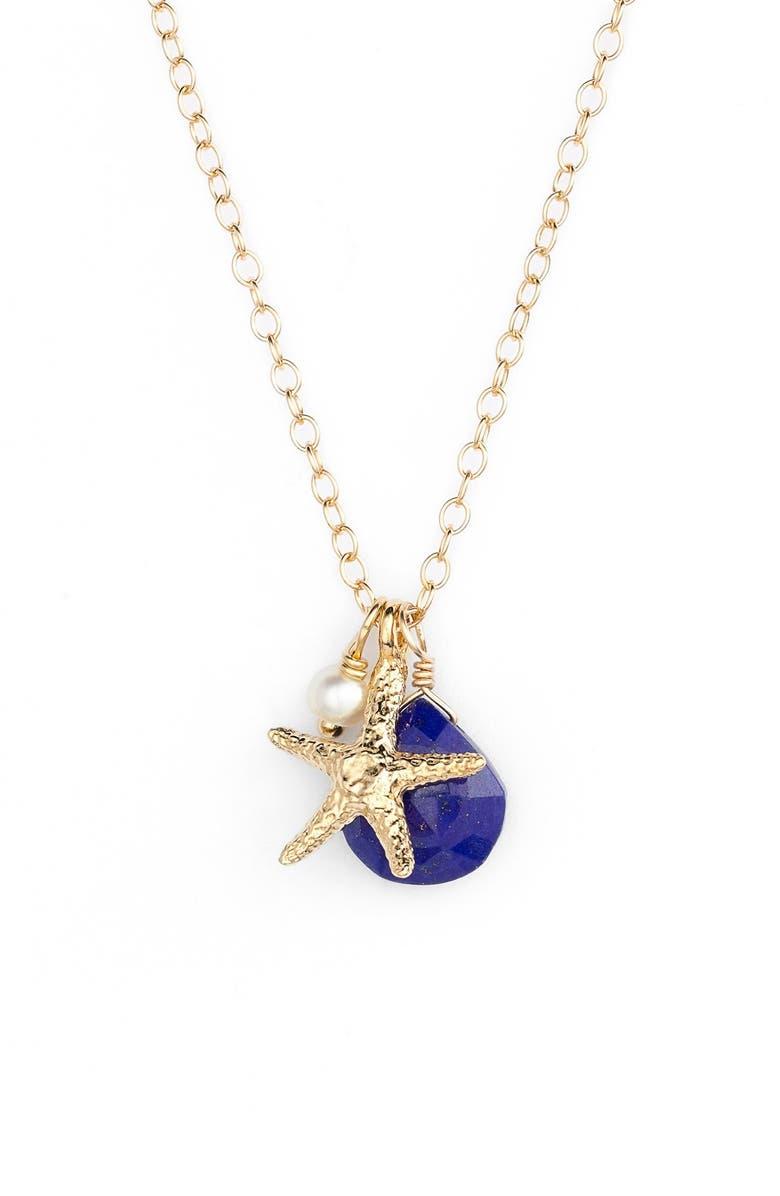 KI-ELE Sea Star Cluster Pendant Necklace, Main, color, 400