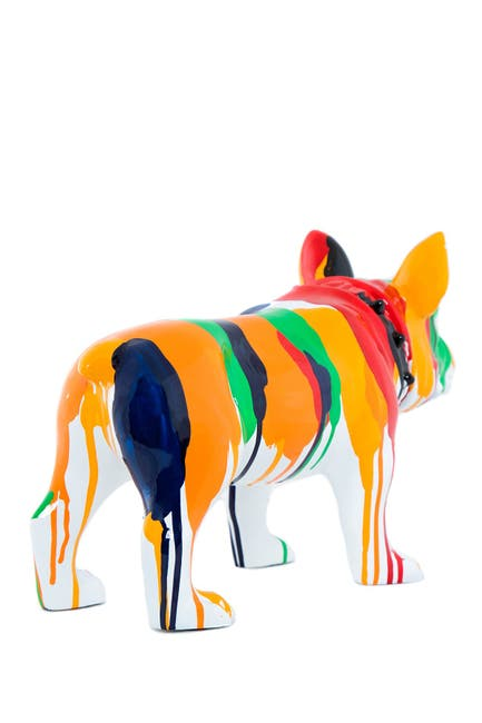 Image of Interior Illusions Standing Bulldog Splatter Art Dog