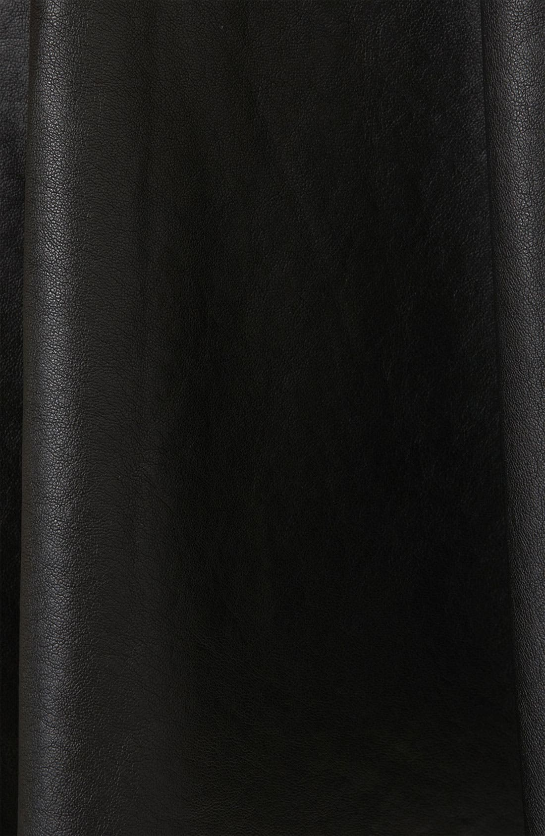 ,                             'Andie' Faux Leather Skater Skirt,                             Alternate thumbnail 2, color,                             001
