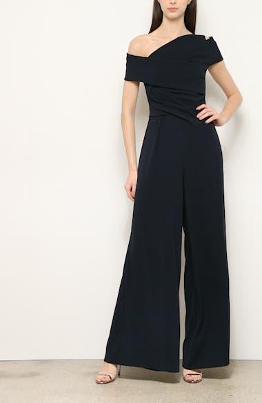 One-Shoulder Asymmetrical Midi Dress, video thumbnail