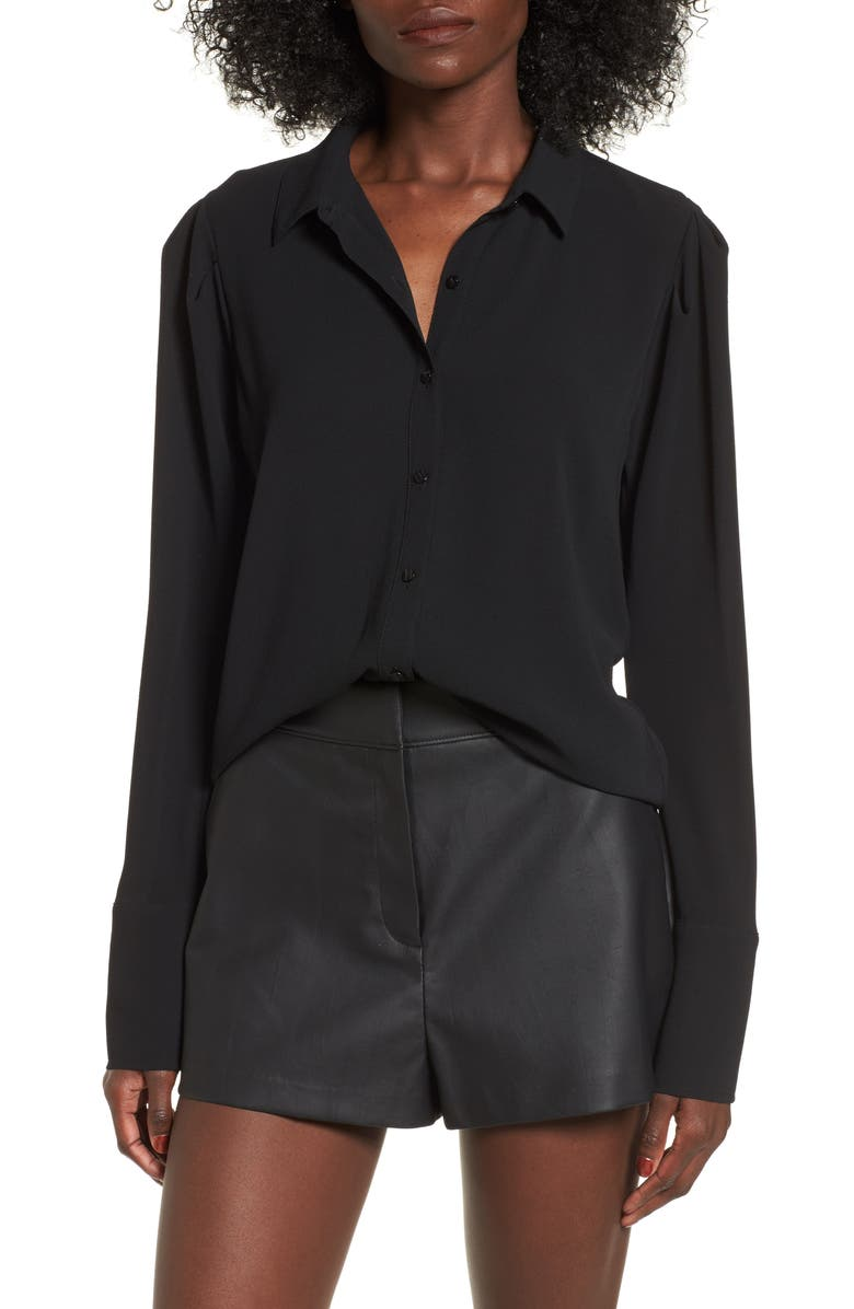 LEITH Puff Shoulder Top, Main, color, 001