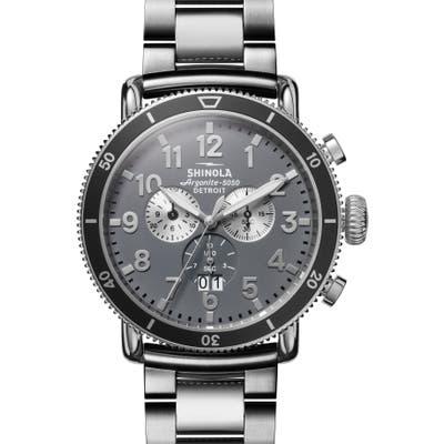 Shinola The Runwell Sport Chronograph Bracelet Watch, 4m