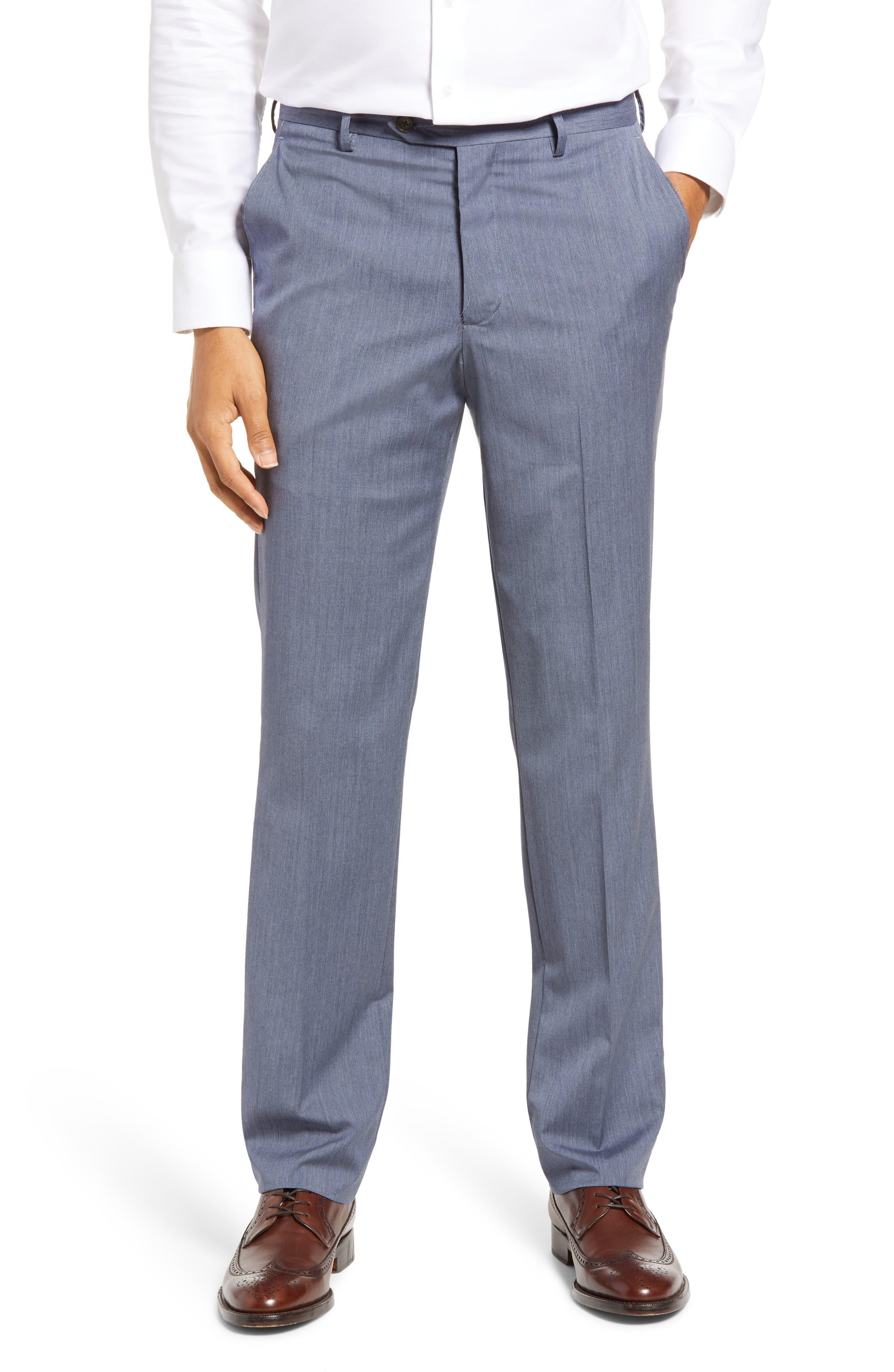 Flat Front Wool Dress Pants