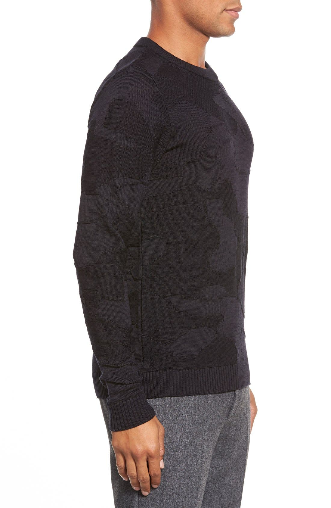 ,                             'Codon' Slim Fit Wool Knit Crewneck Sweater,                             Alternate thumbnail 4, color,                             002
