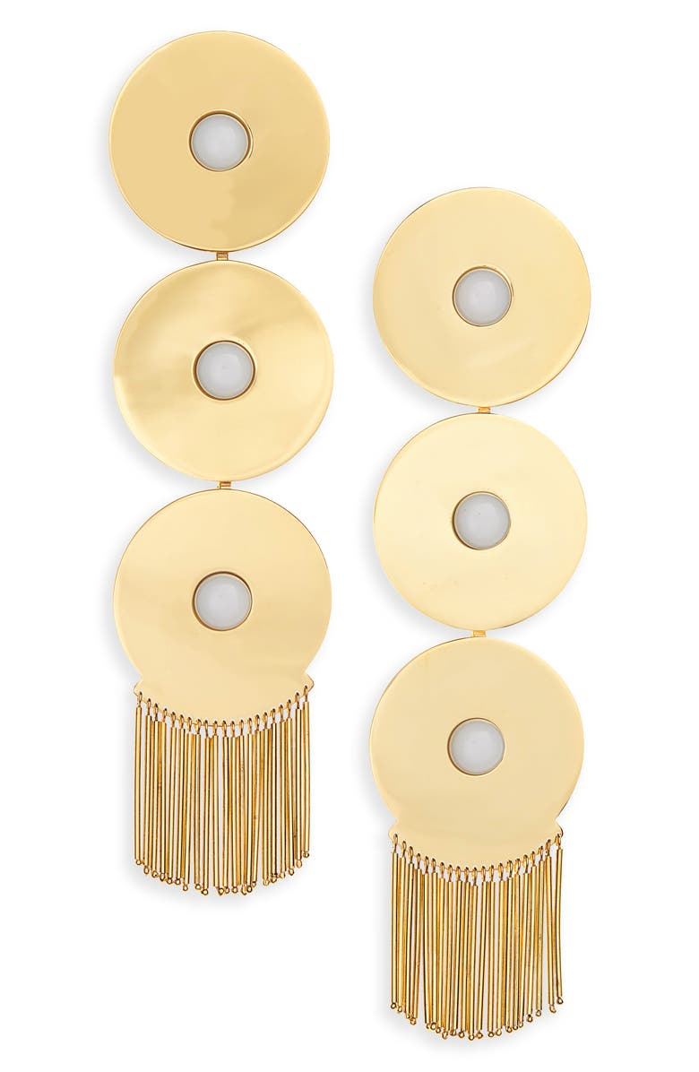 MONICA SORDO Samay Ica Fringe Drop Earrings, Main, color, WHITE ARAGONITE