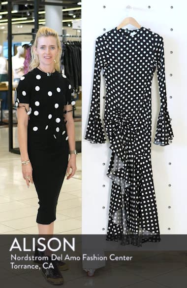 Monique Polka Dot Midi Dress, sales video thumbnail
