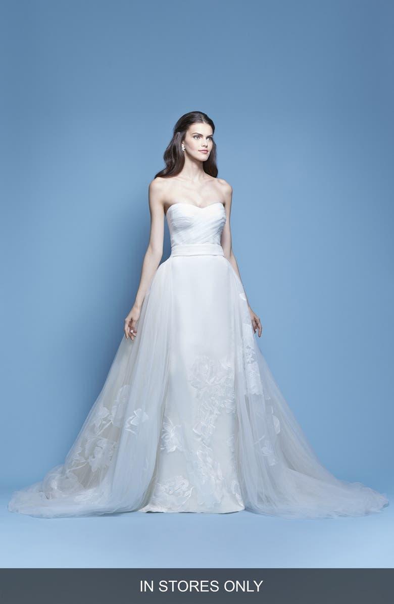 6653a6569 Josefina Strapless Silk Faille Mermaid Gown with Detachable Tulle Overlay  Skirt, Main, color,