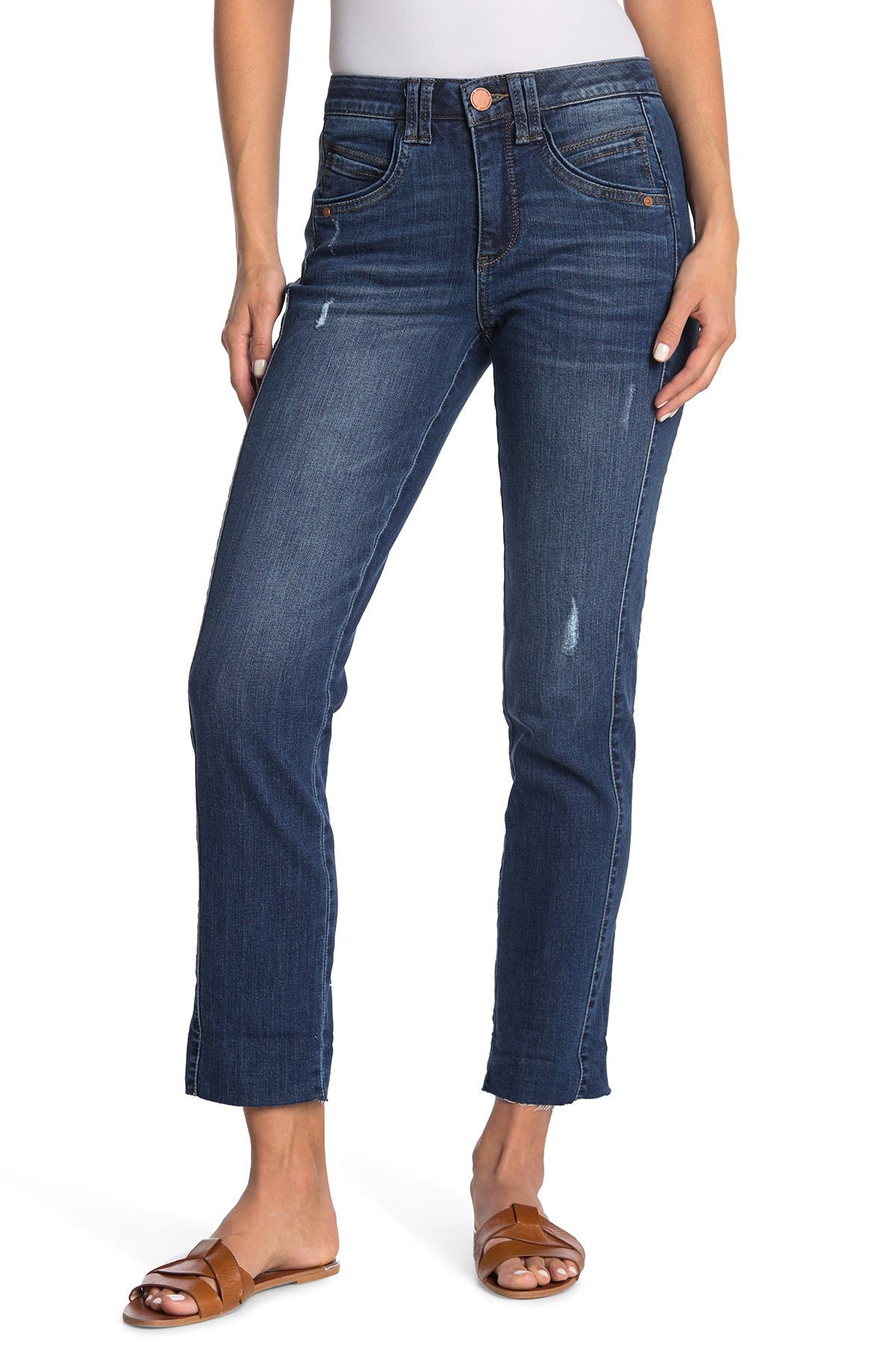 Image of Democracy Ab Tech High Rise Straight Leg Jeans