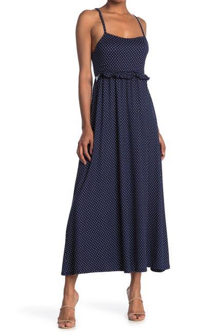 Image of Velvet Torch Ruffle Maxi Dress