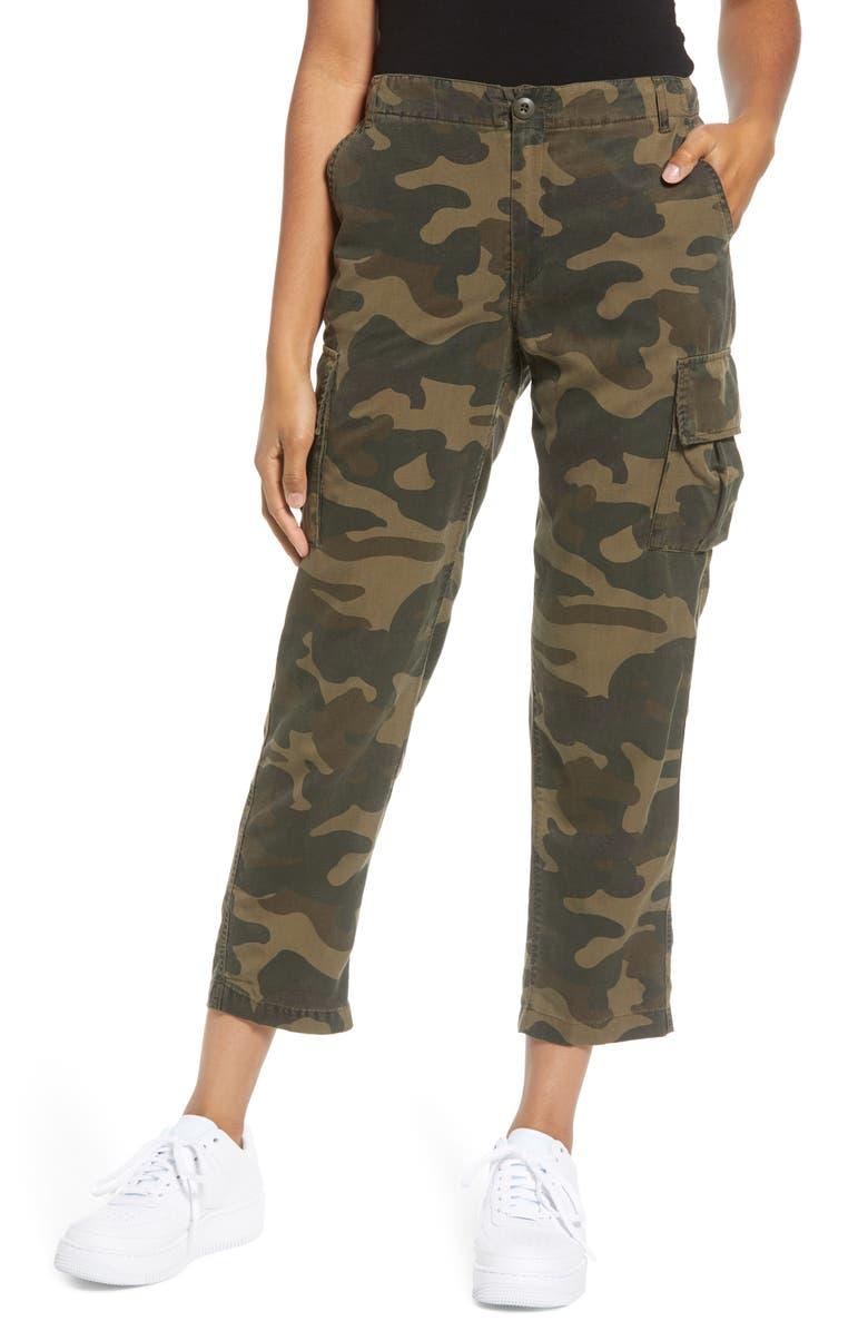 BLANKNYC Camo Wide Leg Crop Utility Pants