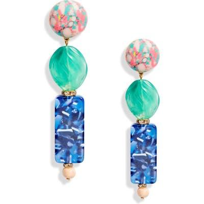 Lele Sadoughi Stacked Stone Drop Earrings