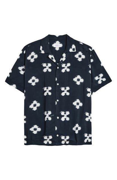Saturdays Surf Nyc CANTY IKAT FLORAL SHORT SLEEVE BUTTON-UP CAMP SHIRT
