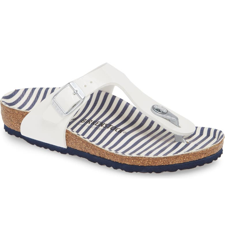 BIRKENSTOCK Gizeh Nautical Sandal, Main, color, 100