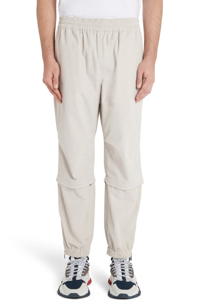 MONCLER Convertible Cotton Corduroy Pants, Main, color, CAMEL