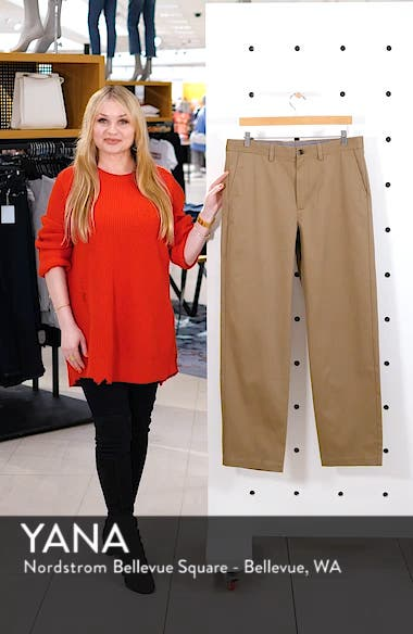 Nordstrom Classic Smartcare<sup>™</sup> Relaxed Fit Flat Front Cotton Pants, sales video thumbnail