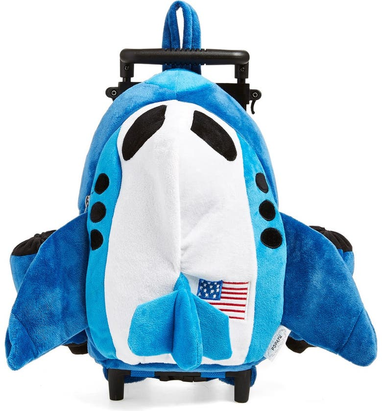 POPATU Trolley Rolling Backpack Set, Main, color, AIRPLANE BLUE