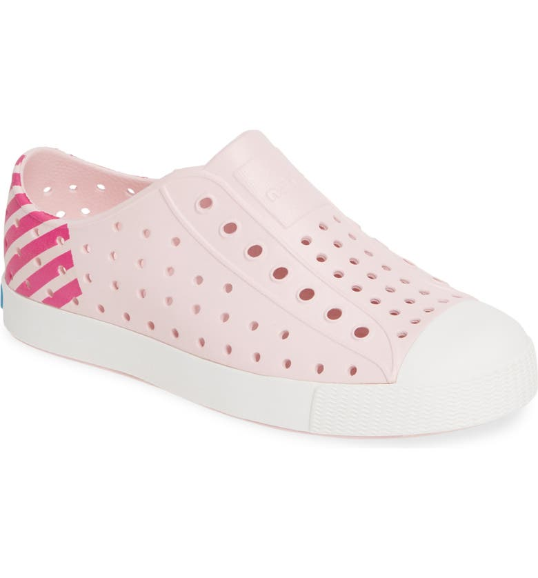 NATIVE SHOES 'Jefferson' Slip-On Sneaker, Main, color, BLOSSOM PINK/ WHITE