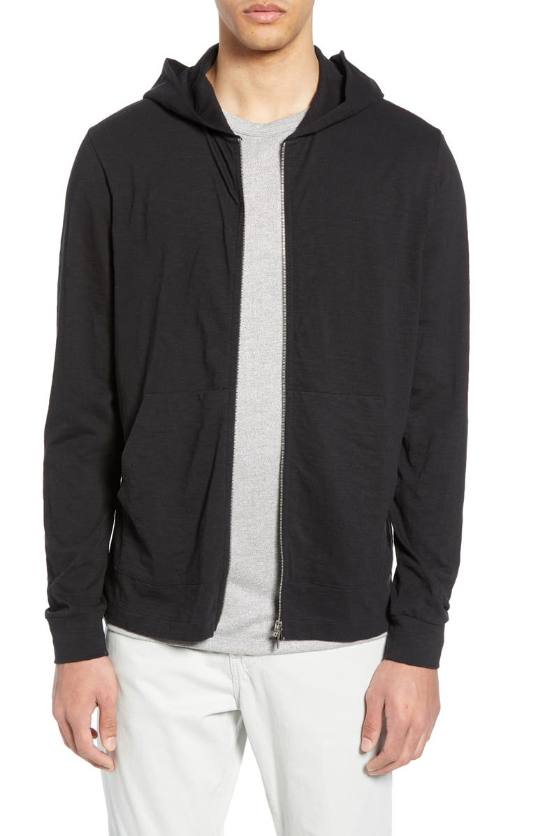 THEORY Layer Zip Hoodie, Main, color, 001