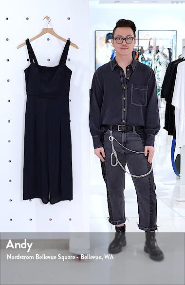 Shirred Strap Crop Jumpsuit, sales video thumbnail