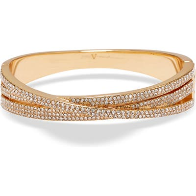 Vince Camuto Crystal Pave Crossover Bangle