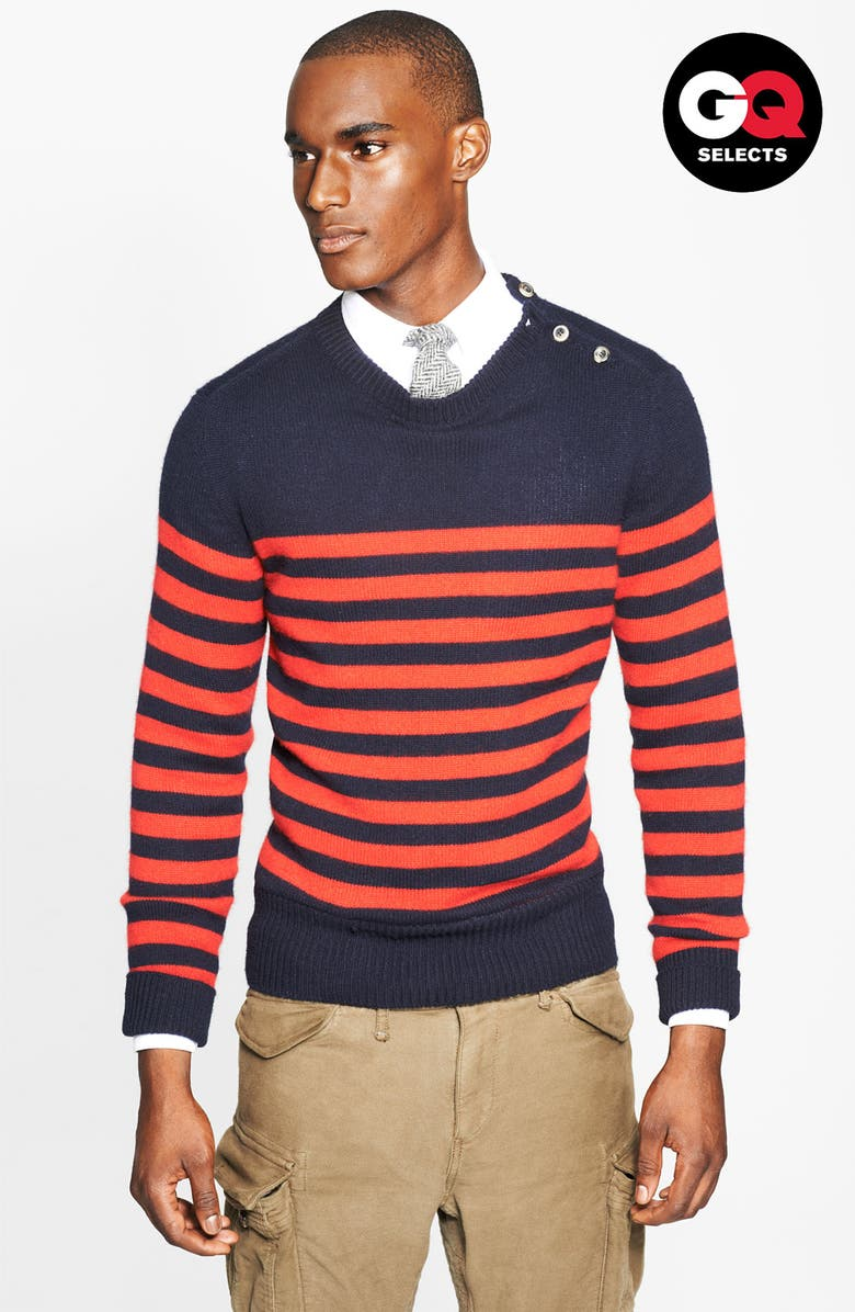 MICHAEL BASTIAN Stripe Sweater, Main, color, 412