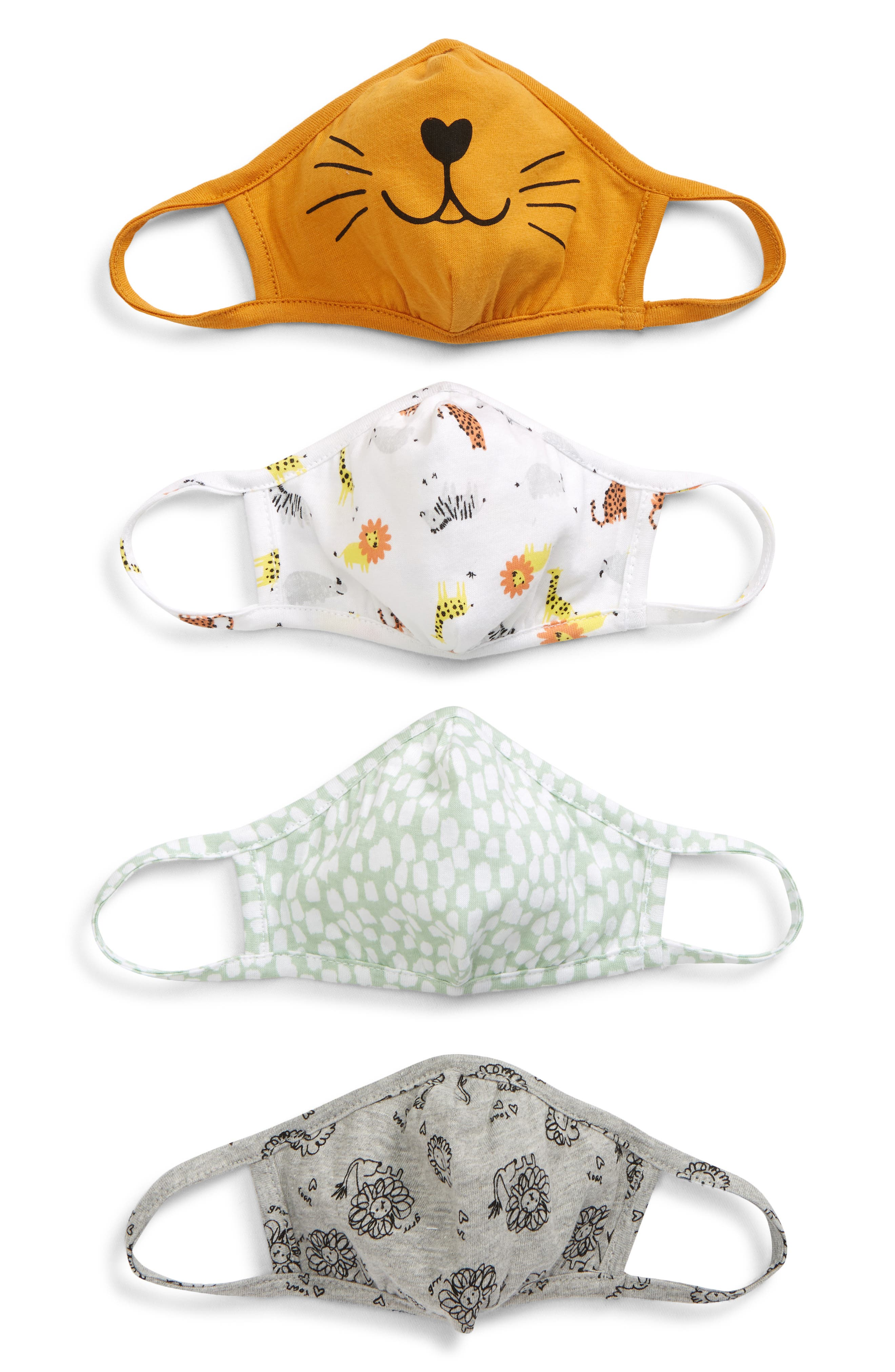 Image of Nordstrom Printed Knit Mask - Pack of 4