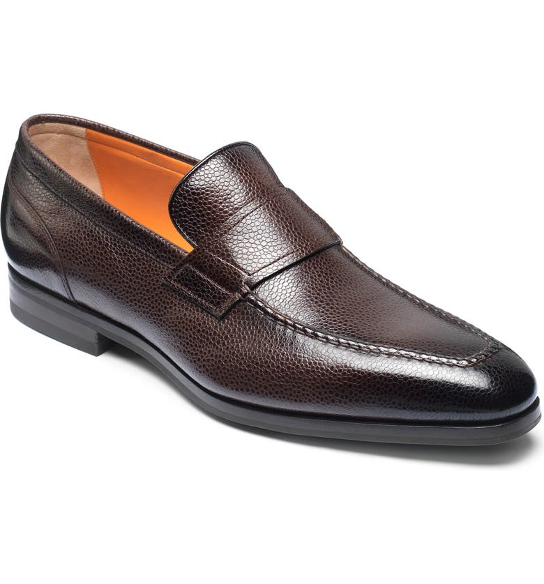 SANTONI Nambia Loafer, Main, color, DARK BROWN