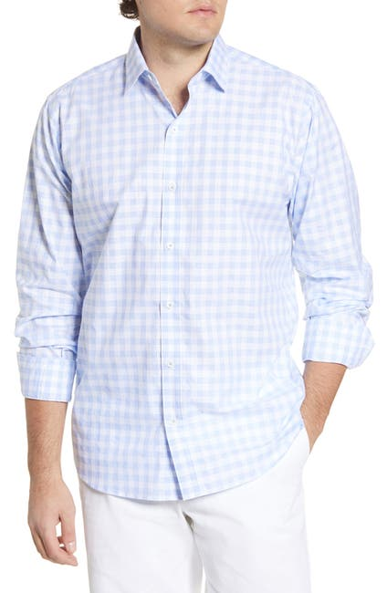 Image of Bugatchi Classic Fit Plaid Button-Up Shirt