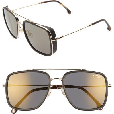 Carrera Eyewear 57Mm Navigator Sunglasses - Gold/ Gray Bronze Mirror